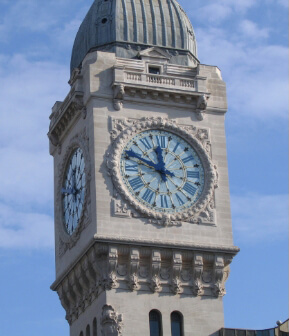 Restoration of the station de Lyon clock
