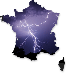 les orages en France